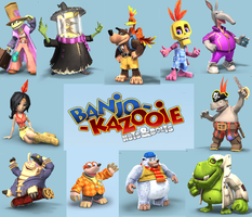 Banjo Character Collage by ianyoshi