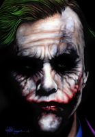 Heath as the Joker by LabrenzInk