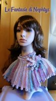 Multicolor Scarf Fantasy with Flower and Swarovski by lefantasiedinephtys