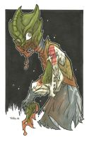 MADAME VASTRA ZOMBIE VARIANT by leagueof1