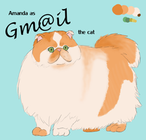 Gmail the Cat by Faunella
