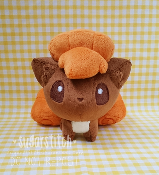 Pokemon: Vulpix Pokedoll V3 by sugarstitch