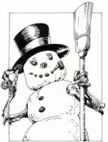 Snowman happy Holidays by PM-Graphix
