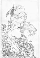Cover Lady Death I Pencil Renato Camilo by renatocamilo