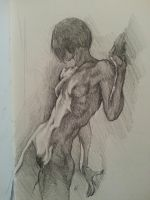 Nude Sketch Study by adammiconi