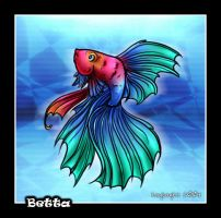 Betta Fish by kaykaykit