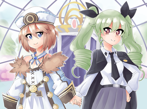 Blanc and Anvhovy by Mahruru