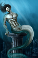 Merman by Akeledar