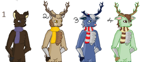 --CLOSED-- FREE Deer Adoplables - Batch 3 by Roxie-the-Charizard