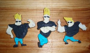 some Johnny Bravo cookies by inner-etch