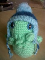 Cthulhu in a hat by ChillyBlackDwagon