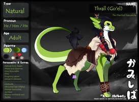 [Personal character refference - Kamishiba] Thrall by SerahMajere