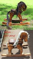 Restored Rocking Horse by lupagreenwolf