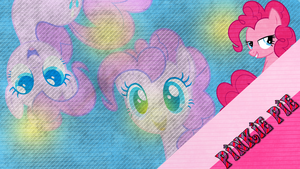 [Wallpaper] Pinkie Pie Grunge [MLP] by RicePoison