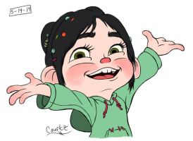 Happy Vanellope by LunaKitty2006