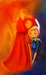Fionna and Flame Prince by AdventureWoot