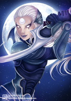 League of Legends - Champion Diana by Blue--Rosa