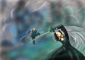 Cloud and Sephiroth - FFVII AC by SerGe-Leonhart