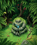 Jungle Golem by Realityendshere