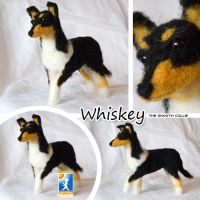 Needle felted smooth collie by Cemina