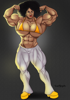 Non-Canonical Muscle - Thea's Guns by Odie1049