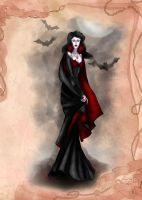 Vampire Illustration by BasakTinli by BasakTinli