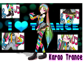 MMD newcomer Karao Trance by Rozz-a