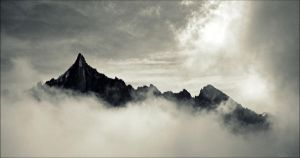 Somewhere over the clouds. by Zwoing