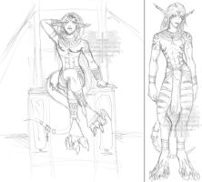 Egyptian Masurao - sketches by Horus-Goddess
