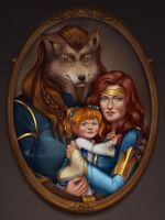Commission: Family portrait by barn-swallow
