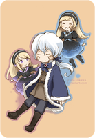 Violette, Hortense, and Hiver by arashi-yukawa