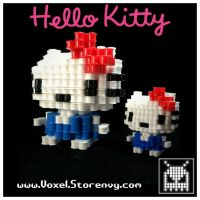 Hello Kitty's by VoxelPerlers