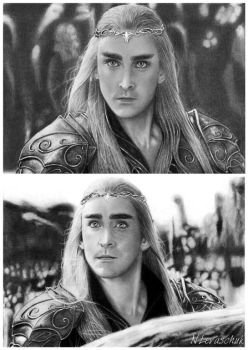 King Thranduil Lee Pace 4 by NLevaschuk