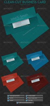 Clean-Cut Business Card by GrDezign