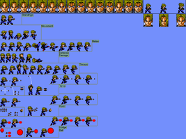 A Sprite Sheet Of Me 2 by masterX70