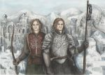 Boromir and Faramir in Osgiliath by AnotherStranger-Me