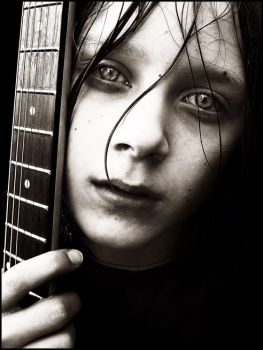 Boy and his Guitar II by silxy