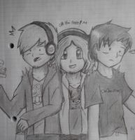 Pewdiepie, WUANTplays and Tobuscus by amythystanime
