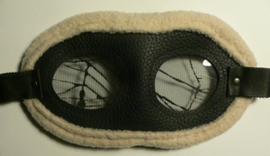 Fine leather goggles by topios