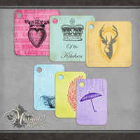 Little Queenie Tags by DaydreamersDesigns