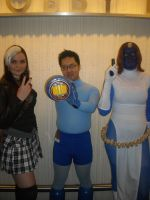 Rogue, Mystique, and MegaMan by rjccj