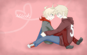 usuk :: o u o // art trade by CaptainJellyroll
