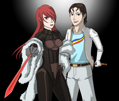 Mitsuru Kirijo and Steve Sandgo by Mr-Sage
