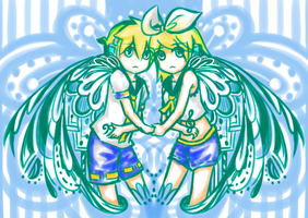 KAGAMINE mirror by K-AT87