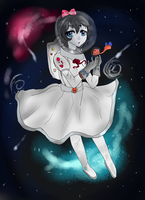 Space girl by LavaPixie