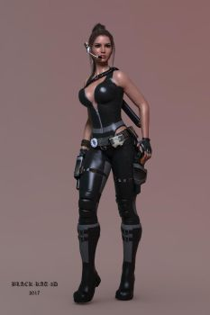 Lara in Leather by black-kat-3d