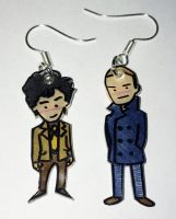Dirk Gently Holistic Detective earrings by Lovelyruthie