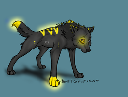 anime wolf adoptable 1 by Lisette-Mage