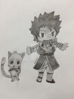 Request: Natsu and Happy by ShadowLiepard