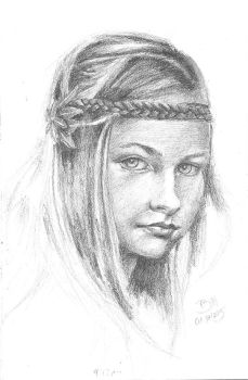 Girl portrait sketch - boceto retrato by BILLNEW